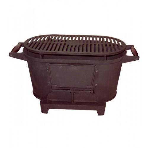 Печка-гриль чугунная